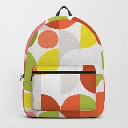 Mid Modern Geometric Bloom Pattern Backpack