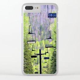 Ski Green Clear iPhone Case