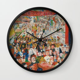 Christ's Entry into Brussels by James Ensor, 1889 Wall Clock