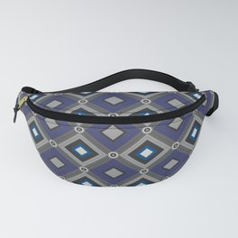 Vintage Quilted Patchwork Retro Geometric Seamless Pattern Fanny Pack