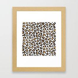 Leopard Print - Bg White Framed Art Print