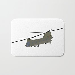 Military CH-47 Chinook Helicopter Bath Mat
