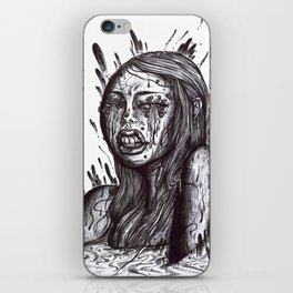 Swamp Girl uncolored  iPhone Skin