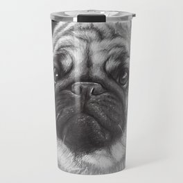 Cute Pug Dog Animal Pugs Portrait Travel Mug