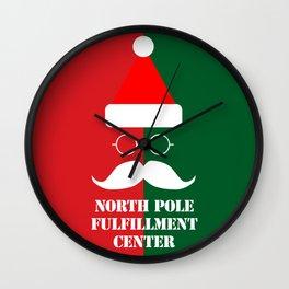 North Pole Fulfillment Center Wall Clock