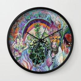 Garden Heart Wall Clock