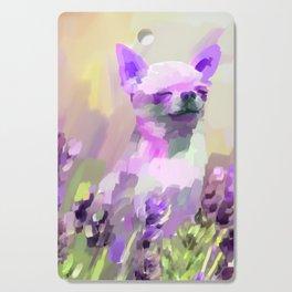 Chihuahua in Lavender Cutting Board