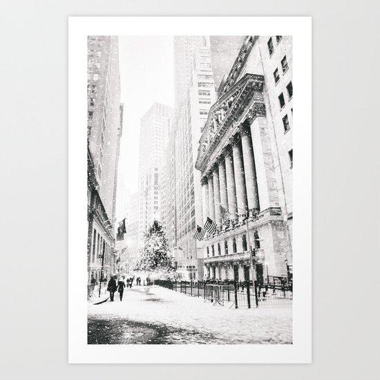 New York City Christmas Art Print