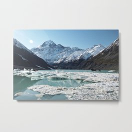 Mt Cook National Park, New Zealand Metal Print