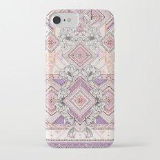Aztec Lines Floral iPhone 7 Slim Case