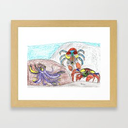 Cuttlefish & Coconut Crabs Framed Art Print