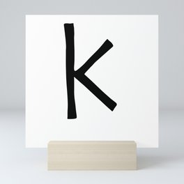 K Monogram (Hand 2) Mini Art Print
