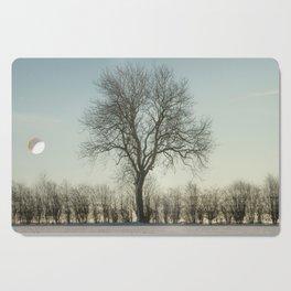 Winter tree in the low sun Cutting Board