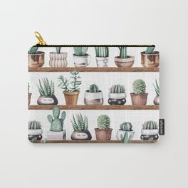 Cactus Shelf Rose Gold Green Carry-All Pouch