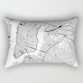 New York City White Map Rectangular Pillow