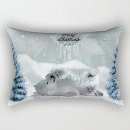 Cute polar bear baby Rectangular Pillow
