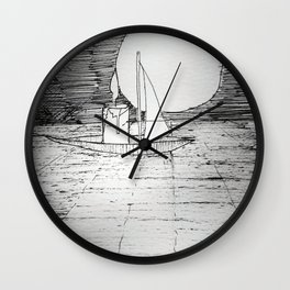 night sail Wall Clock