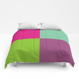 Colorful quarters Comforters
