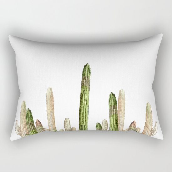 cactus desert Rectangular Pillow