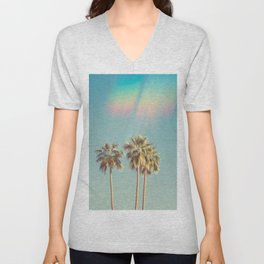 Groovy Palm Trees Unisex V-Neck