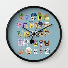 Breakfast Mascot Alphabet Wall Clock