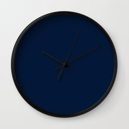 dark navy blue solid coordinate Wall Clock