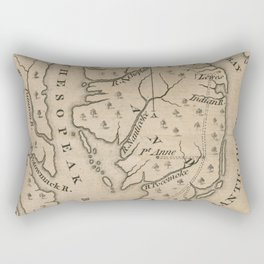 Vintage Map of The Chesapeake Bay (1769) Rectangular Pillow