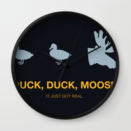 Duck, Duck, Moose. Wall Clock