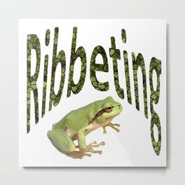Ribbeting Frog Metal Print