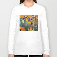 elephants Long Sleeve T-shirts featuring Elephants by Jonas Ericson
