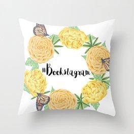 #Bookstagram Throw Pillow
