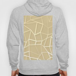 Floating Shapes Gold - Mid-Century Minimalist Graphic Hoody