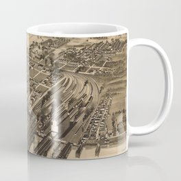 Vintage Pictorial Map of Newport News VA (1891) Coffee Mug