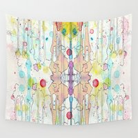 splatter Wall Tapestries featuring Splatter 1 by Tammy Kushnir