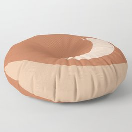 Moonrise Minimalism - Orange Floor Pillow