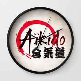 Aïkido v2 Wall Clock