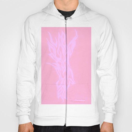 pink fire Hoody