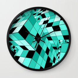 Rubik series 1, mint Wall Clock