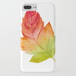 Watercolor Leaf Sticker 3 iPhone Case