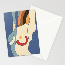 Abstract Body of Woman Stationery Cards