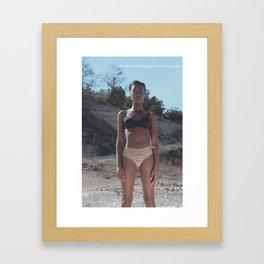 Girls, Girls, Girls: dark skin woman Framed Art Print