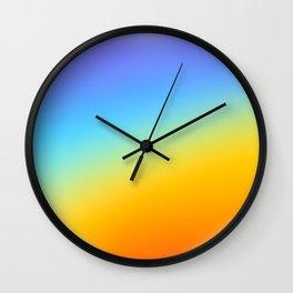 rainbow heart Wall Clock