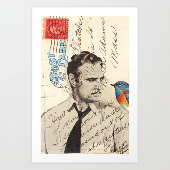 Brando and Bird Art Print