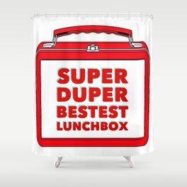 Super Duper Bestest Lunchbox Shower Curtain