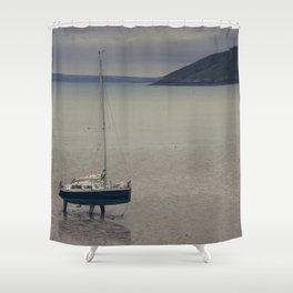 Waiting for the flood Shower Curtain