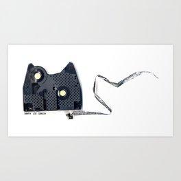 Kit Cat Clack Art Print