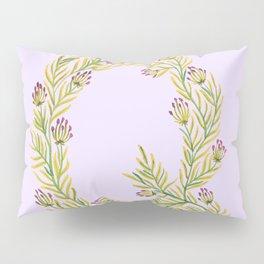 Leafy Letter Q Pillow Sham