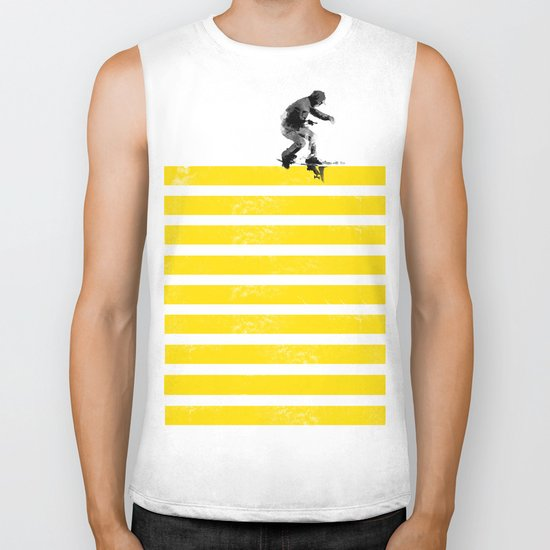 Slide on stripes Biker Tank