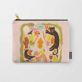 Charmed - Pink and Green Carry-All Pouch