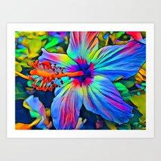 Open Hibiscus Art Print